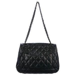 CHANEL Bags - Chanel Maxi Quilted Black Lambskin Flap Bag